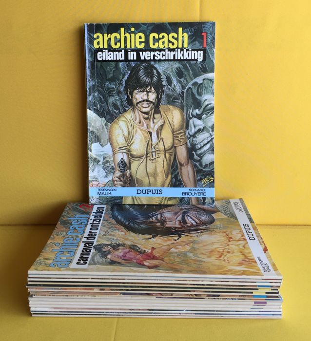 Archie Cash 1 t/m 15 - Complete reeks  - Softcover - Mixed editions - (1974/1988)