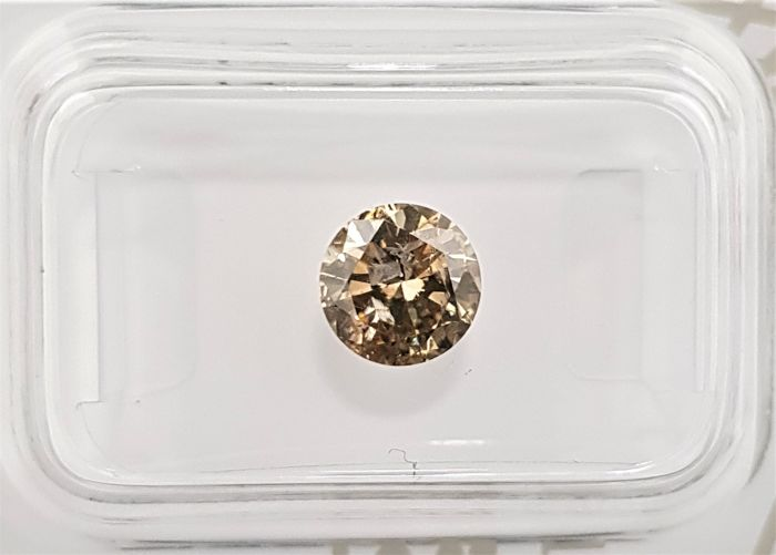 1.00 ct - Natural Fancy Diamond - Brownish Yellow Color - I1 - NO RESERVE!