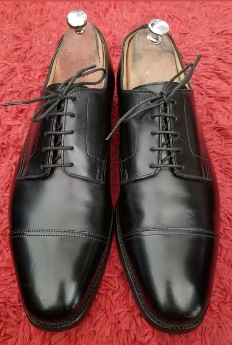 Brooks Brothers black lace-up derby shoes, 10.5 D/9.5 UK/43.5, in excellent condition