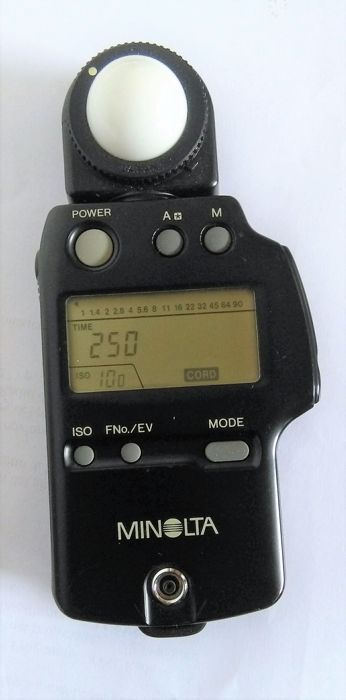 Exposure meter for flash, Minolta auto meter IV f