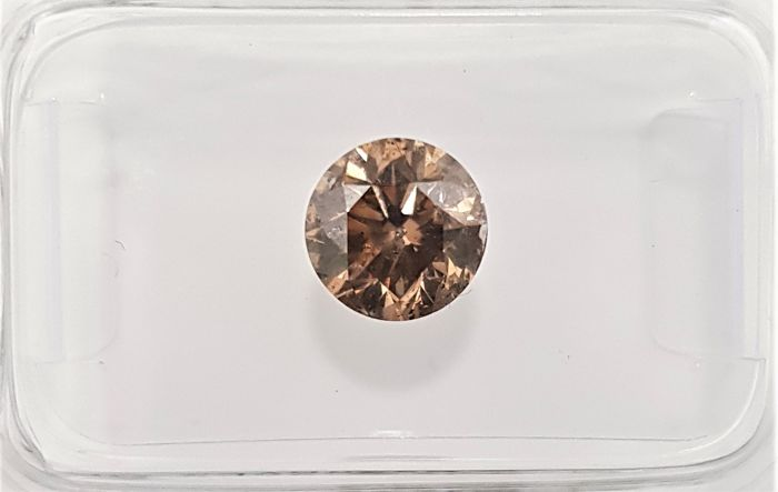 1.01 ct - Natural Fancy Diamond - Intense Orangy Brown Diamond - SI3 - VG/VG/VG - NO RESERVE!