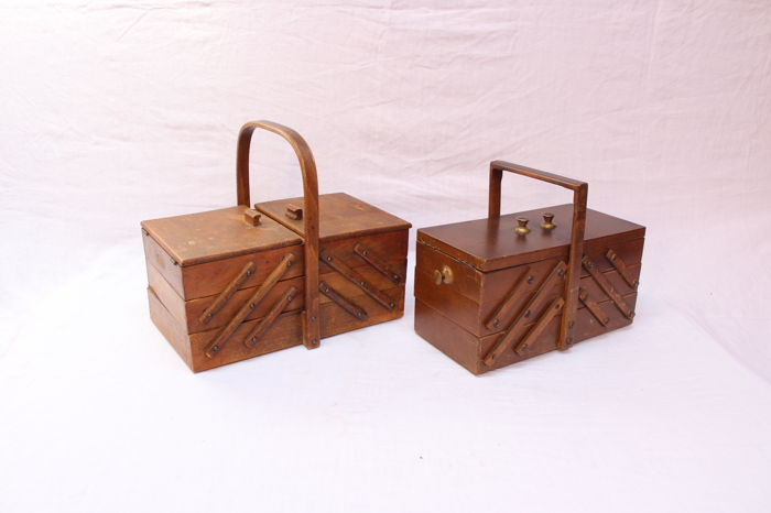 Two vintage sewing boxes, 1950s, Netherlands