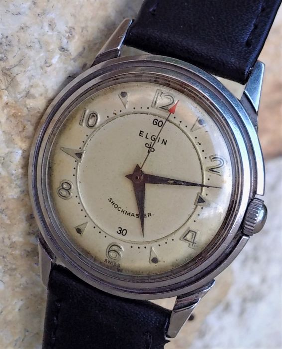 Elgin Watch Company -  ShockMaster -Swiss - Heren - 1950-1959