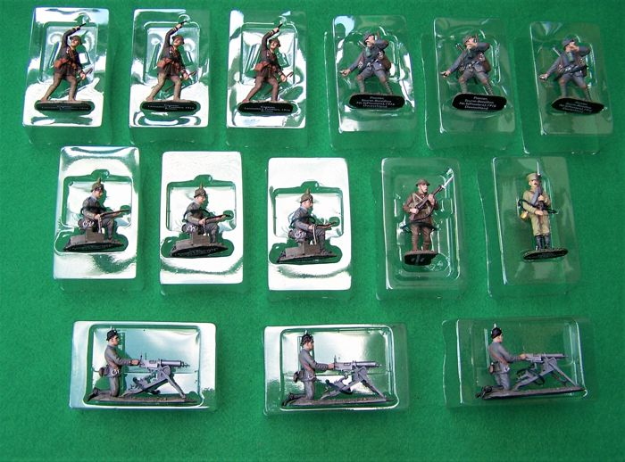 14 x Unused Mint Condition Lead Soldiers Del Prado/Diagostini WW1 Series, Hand Painted Figurines, 1:32 Scale