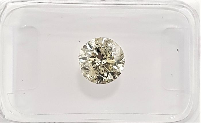 1.01 ct - Natural Fancy Diamond - Yellow Color - SI3 - VG/VG/VG - NO RESERVE!