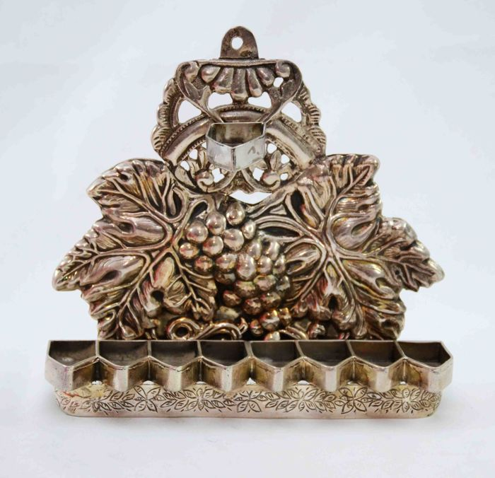 A silver Menorah for Hannukah - Tunisia - ca. 1920/1930