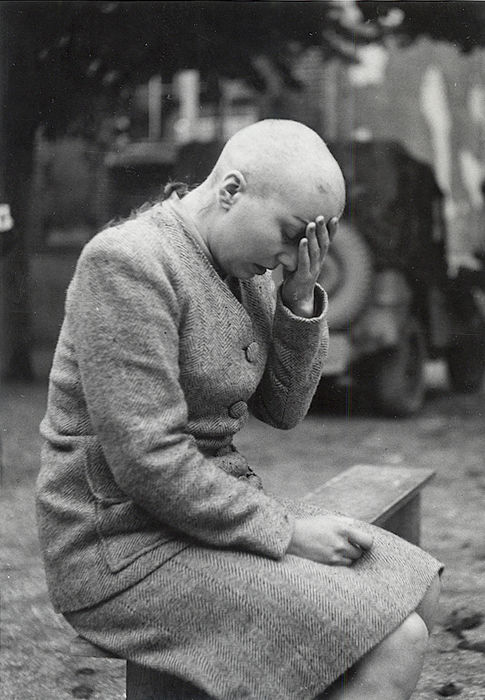 Unknown/Imperial War Museum - French collaborator w/Shaved Head, 1944