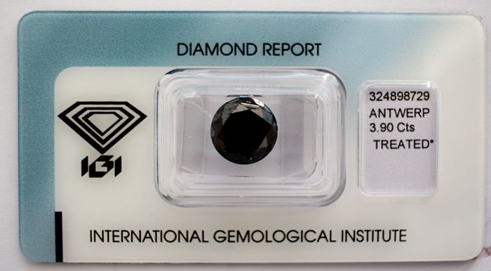 Black Diamond 3.90 CT with IGI certificate***No minimum price***