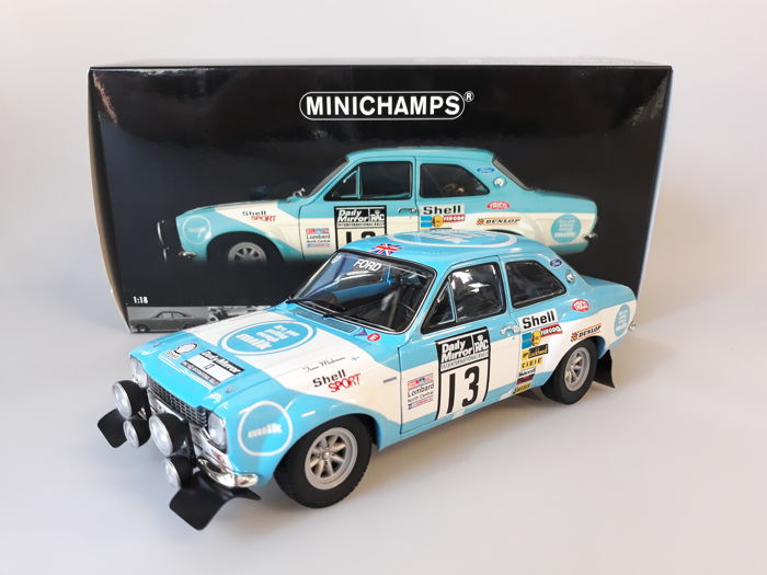 MiniChamps - 1:18 - Ford Escort I RS 1600 RAC Rally 1973 - Winners: Makinen / Liddon