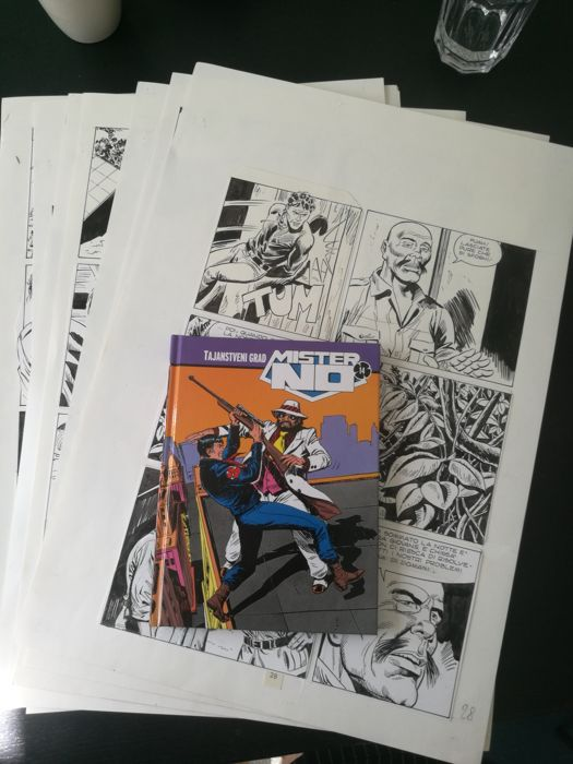 Mister No - Di Vitto - 8x original pages - First edition - (1986/2008)