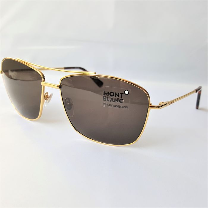 Montblanc - Pilot Gold ZEISS Lenses - New - Made in Italy Zonnebril
