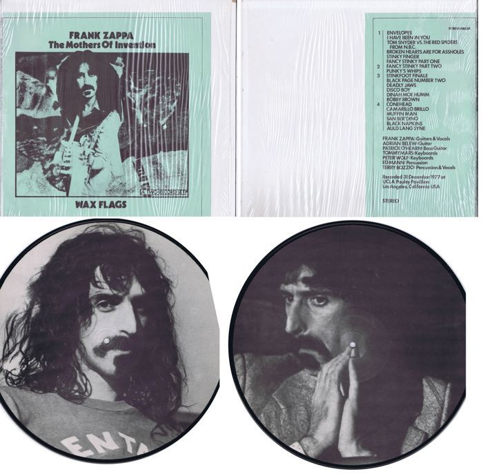 "Frank Zappa / The Mothers Of Invention: lot of 2LP-set: Wax Flags (Denmark 1977) and a 12"" picture disc: No Picture Disc (live)"