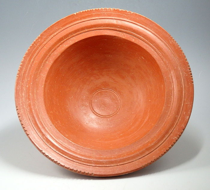 Oud-Romeins Terracotta North African Red Ware Bowl - 4.4cm height x 14.8cm outer diam