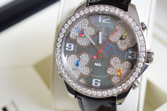 """Jacob & Co. - Five Time Zones """"NO RESERVE PRICE"""" - JC-ATH10 - Heren - 2000-2010"""