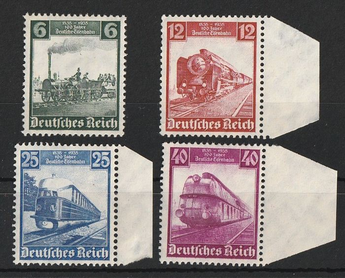 German Empire 1935/1935 - 1935 Saarabst. German Railway Winter Olympiad - ANK 2017 ANK Nr. 565 - 68 , 580 - 83 , 600 - 02 .