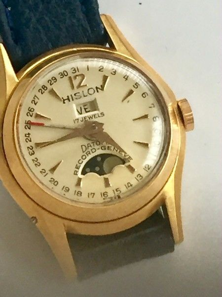Record - nice Lady`s moonphase watch - Dame - 1950-1959