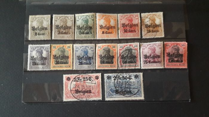 België 1916/1918 - Set of stamps - OBP / COB 10/24