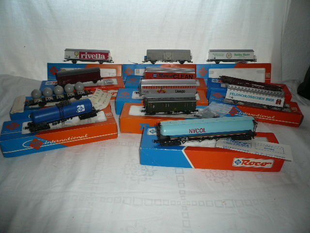 Roco H0 - 12 different - Freight carriage - DB