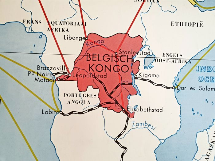 School Map The Belgian Congo And Ruanda Urundi