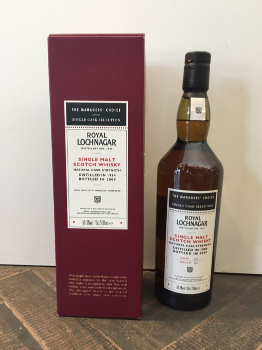 Royal Lochnagar, Single Malt Scotch Whisky, The Managers' Choice