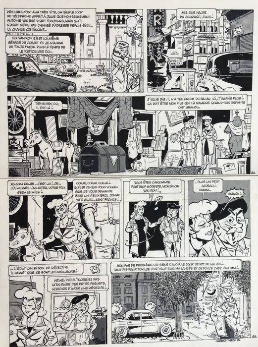 "Planche originale ""Julie Brizard"" - Le Cheval à Bascule - First edition - (1982)"