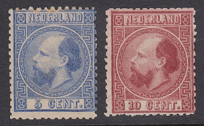 Netherlands 1867 - King William III - NVPH 7 + 8