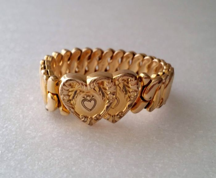 1946 Phoenix SPEIDEL Made 14kt Gold Filled Sweetheart Expansion Bracelet