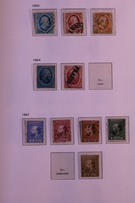 Netherlands 1852/1943 - Collection in Davo cristal pre-print album - -