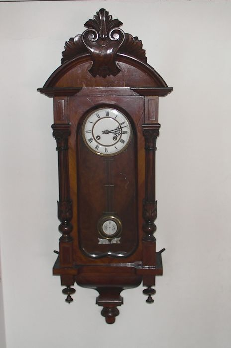 Antique wooden regulator - wall clock