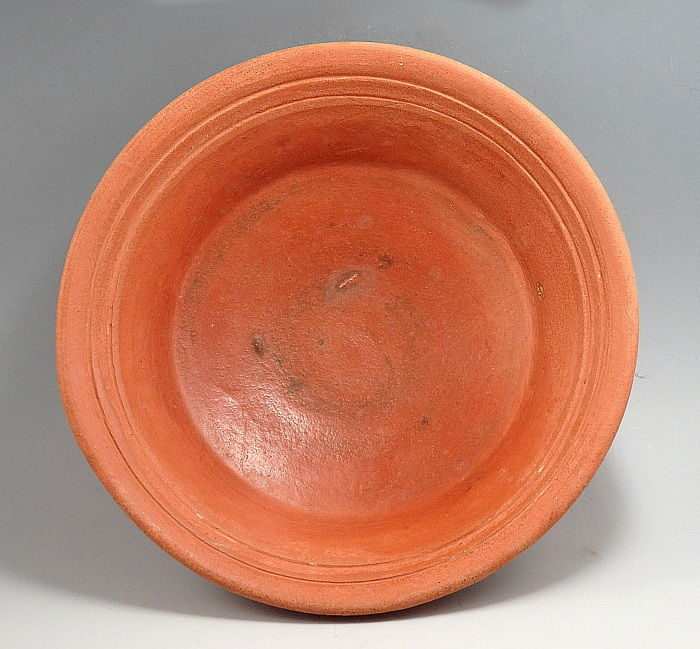 Oud-Romeins Terracotta North African Red Ware Bowl  - 4.5cm height x 15.8cm outer diam