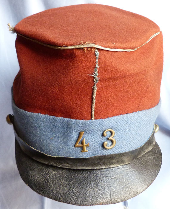 French c.1870's Franco-Prussian War Army Soldier's Kepi Cap.