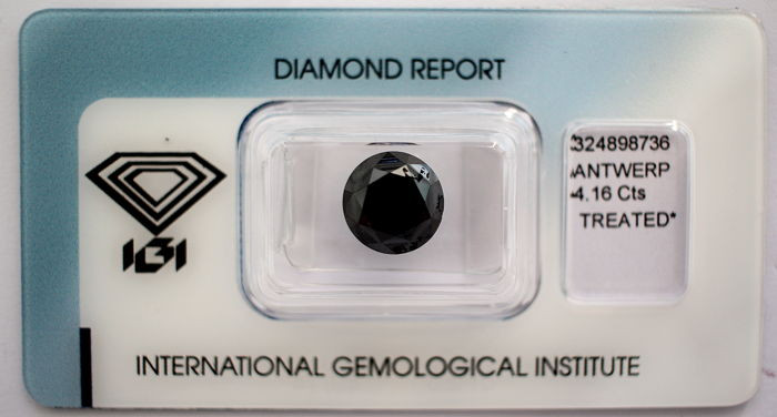 Black Diamond 4.16 CT with IGI certificate***No minimum price***