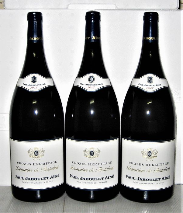 2013 Crozes-Hermitage, Domaine de Thalabert, Paul Jaboulet Ainé – Lot of 3 Magnums 1,5 L.