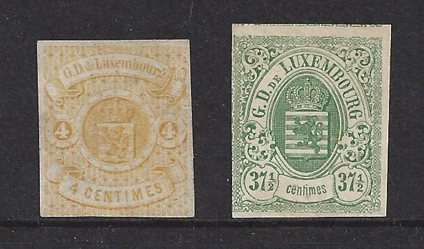 Luxembourg 1859/1859 - Weapon 1st Emission untoothed - Michel 5 en 10