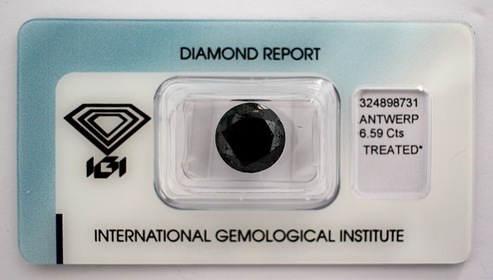 Black Diamond 6.59 CT with IGI certificate***No minimum price***