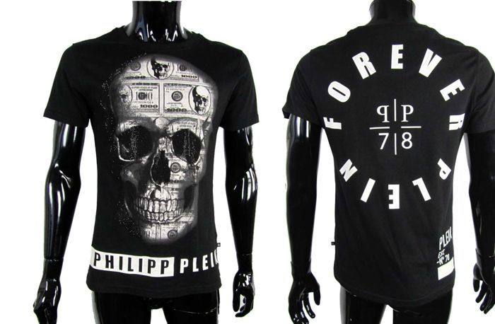 Philipp Plein Homme - Black Stoned Crafted Skull Shirt - As New