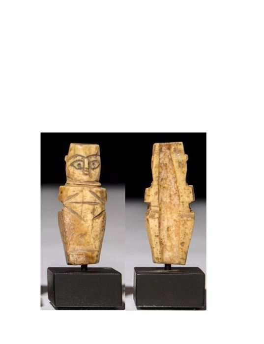 Ancient Egyptian Bone  Coptic Nude Female Figure. - 6 cm x 2 cm - (1)