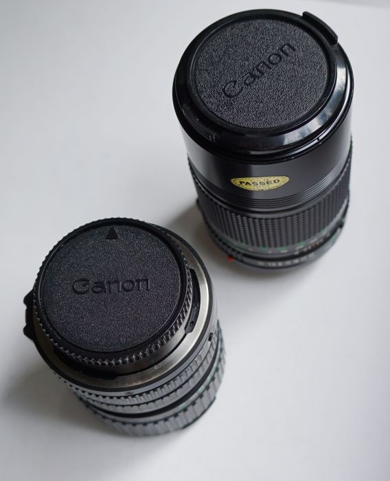 Set of 2 CANON FD lenses for SLR or digital (requires adapter)