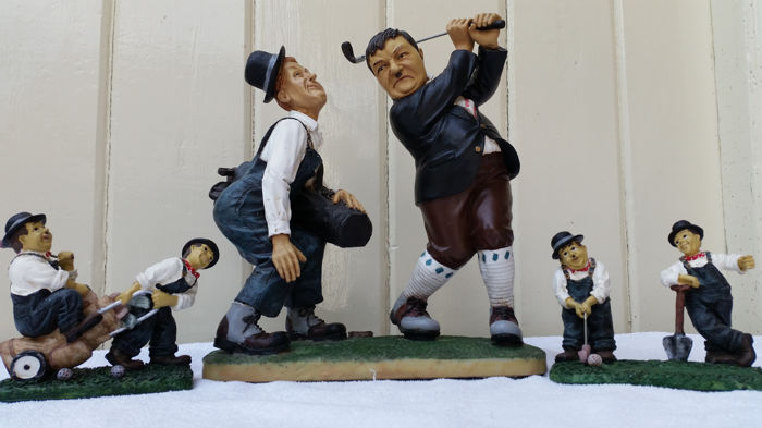 Laurel and Hardy - golfing image