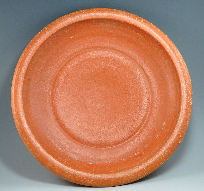 Oud-Romeins Terracotta North African Red Ware Dish - 4.8mm height x 232mm outer diam