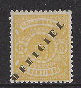 Luxemburg 1875/1878 - Weapon Official overprint perforated - Michel 13 II
