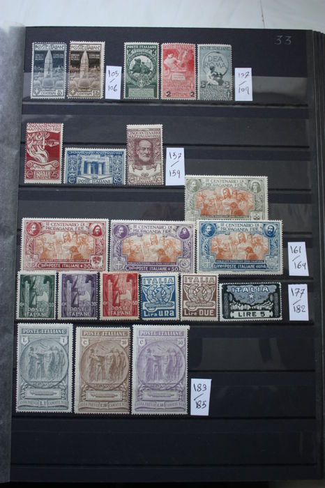 Italy 1912/1926 - Selection of stamps between Michel Nr 105/294