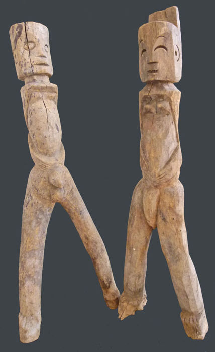Two Ancestor Figurines - AKHA - Myanmar