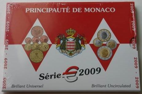 Μονακό - 2009 Monaco Year Mint Set Euro -  .