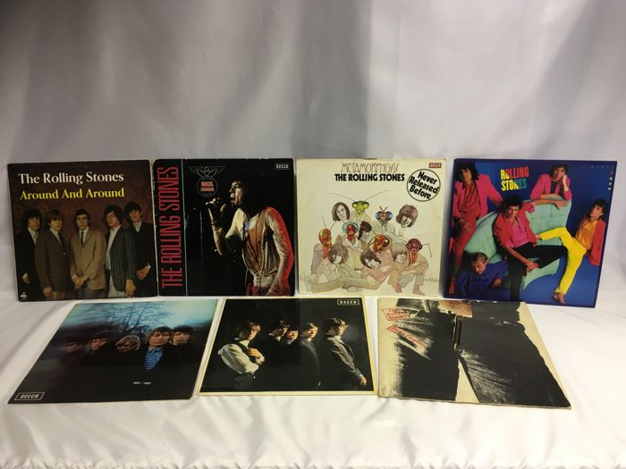 The Rolling Stones  - Lot of 7 LP Albums Records - Including Sticky Fingers