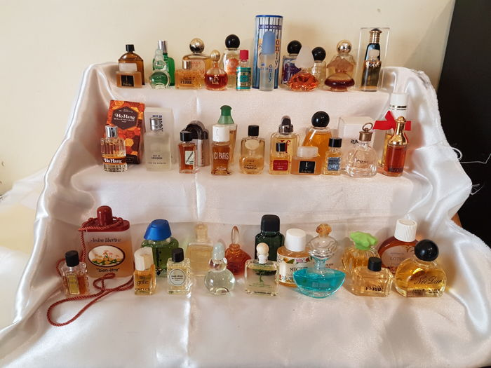 Collection of 50 miniature perfumes