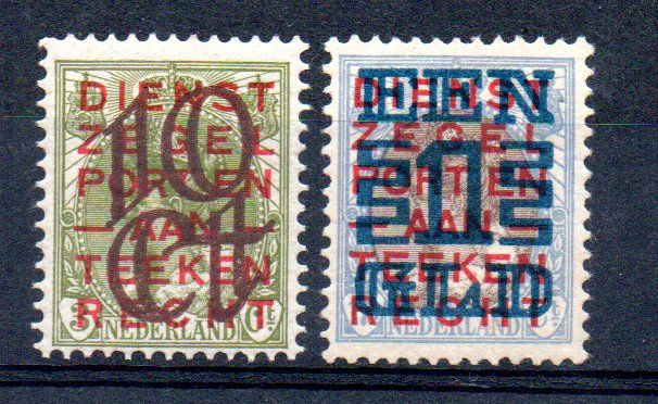 Netherlands 1923 - Clearance issue - NVPH 132/133