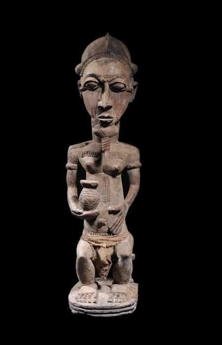 A Seated Baule King