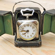 Japy Freres et Cie Beaucourt France fine travel clock in box.