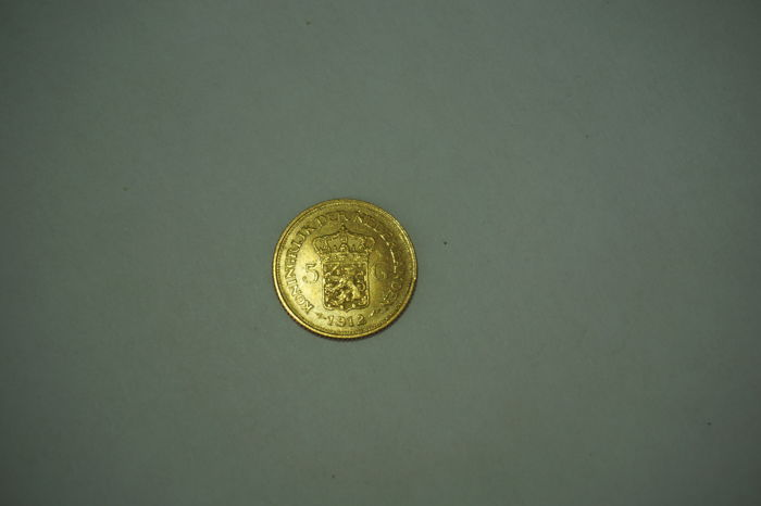 "The Netherlands - 5 Gulden 1912, ""Wilhelmina"" - Gold"